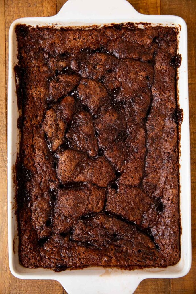 Nutella Cobbler in baking dish