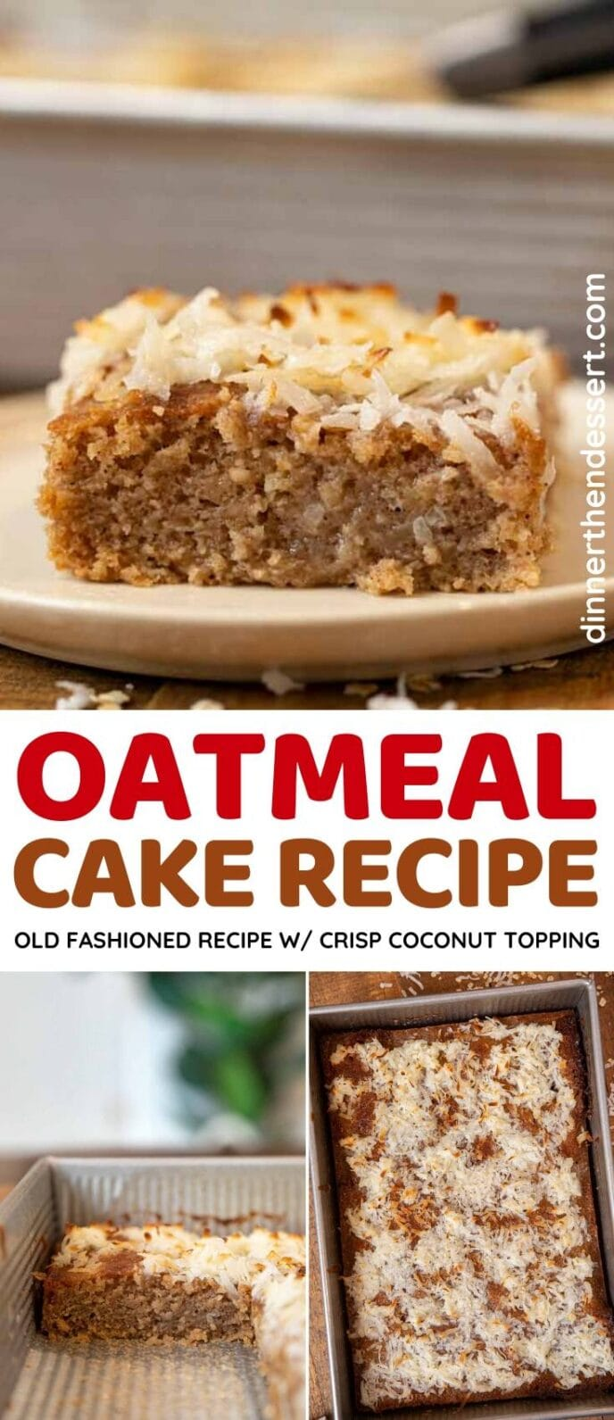 Oatmeal Cake collage