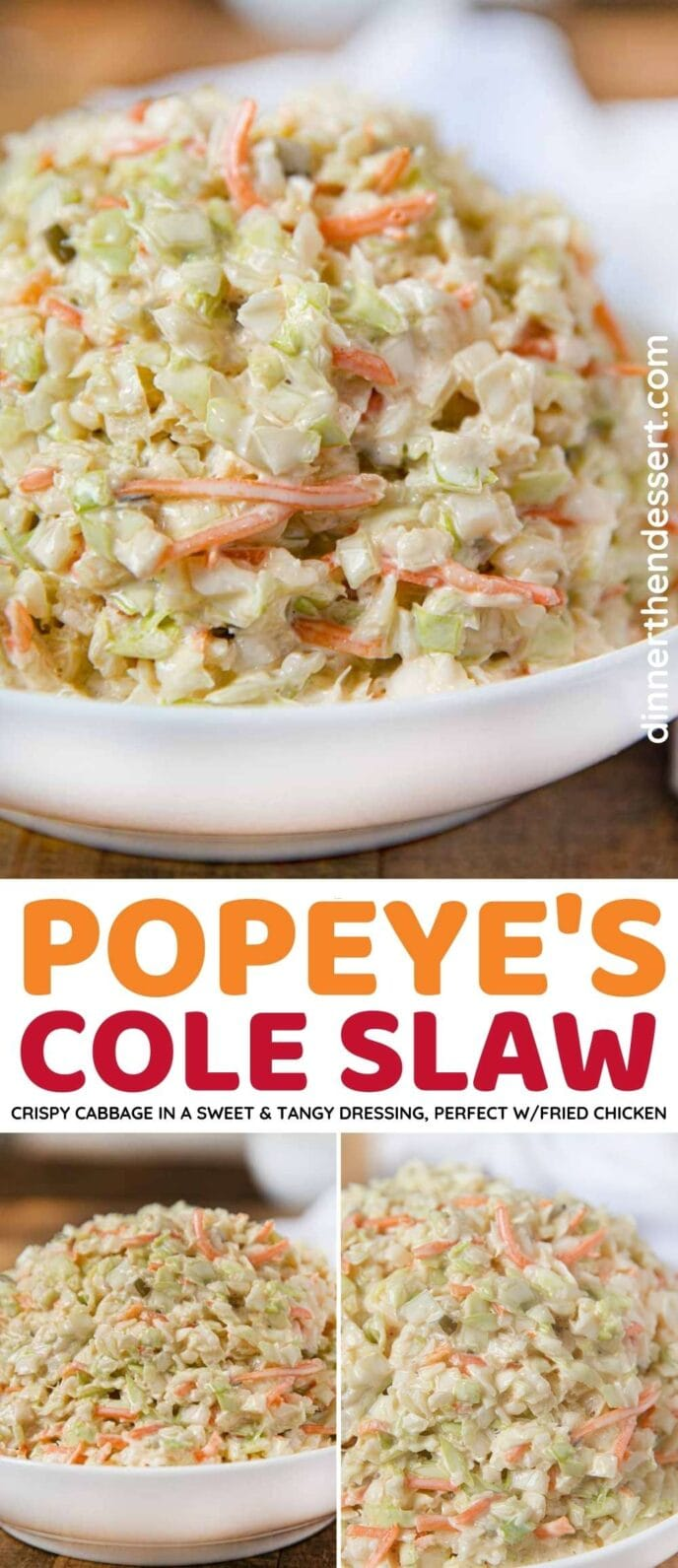 Popeye's Cole Slaw Collage