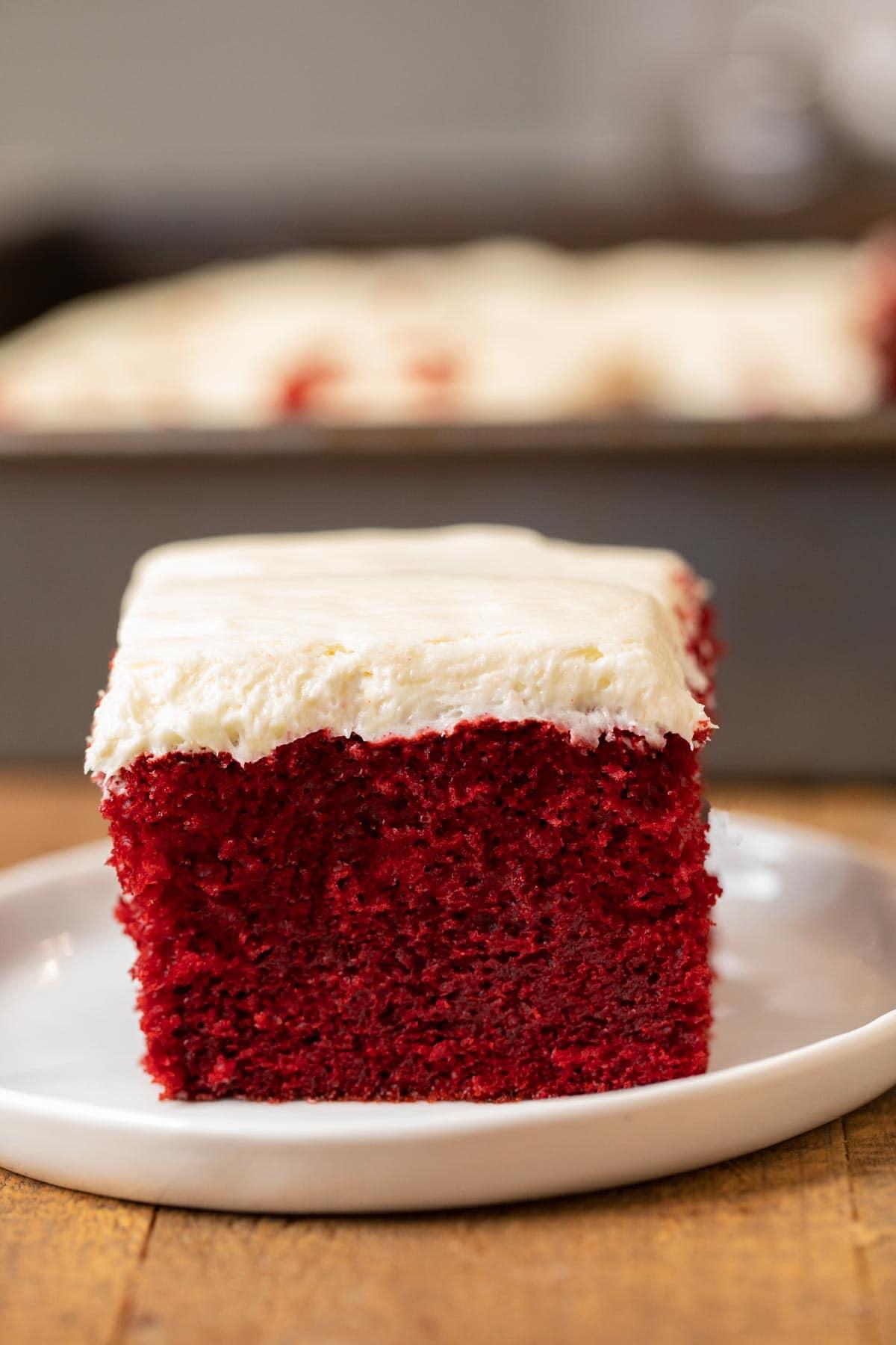 Easy Red Velvet Sheet Cake Recipe Dinner Then Dessert