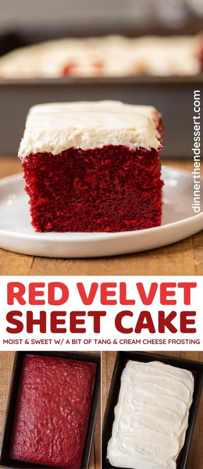 Red Velvet Sheet Cake collage