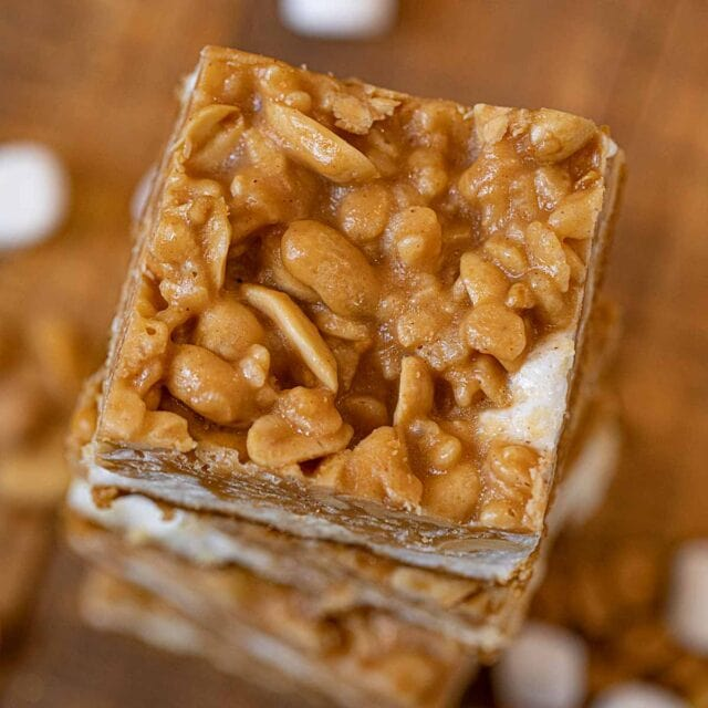 Salted Peanut Chew from top down
