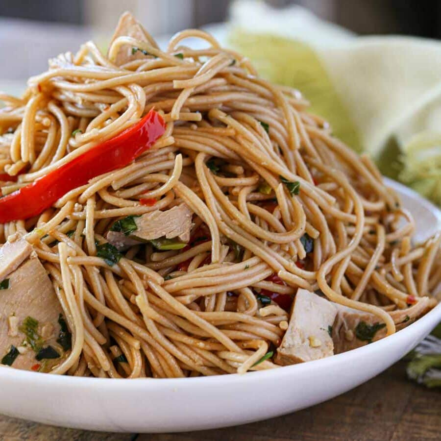 Sesame Noodles in bowl