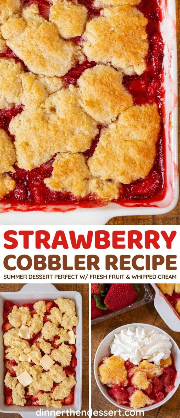 Strawberry Cobbler collage