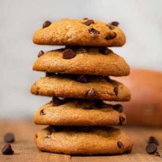 stack of sweet potato chip cookies