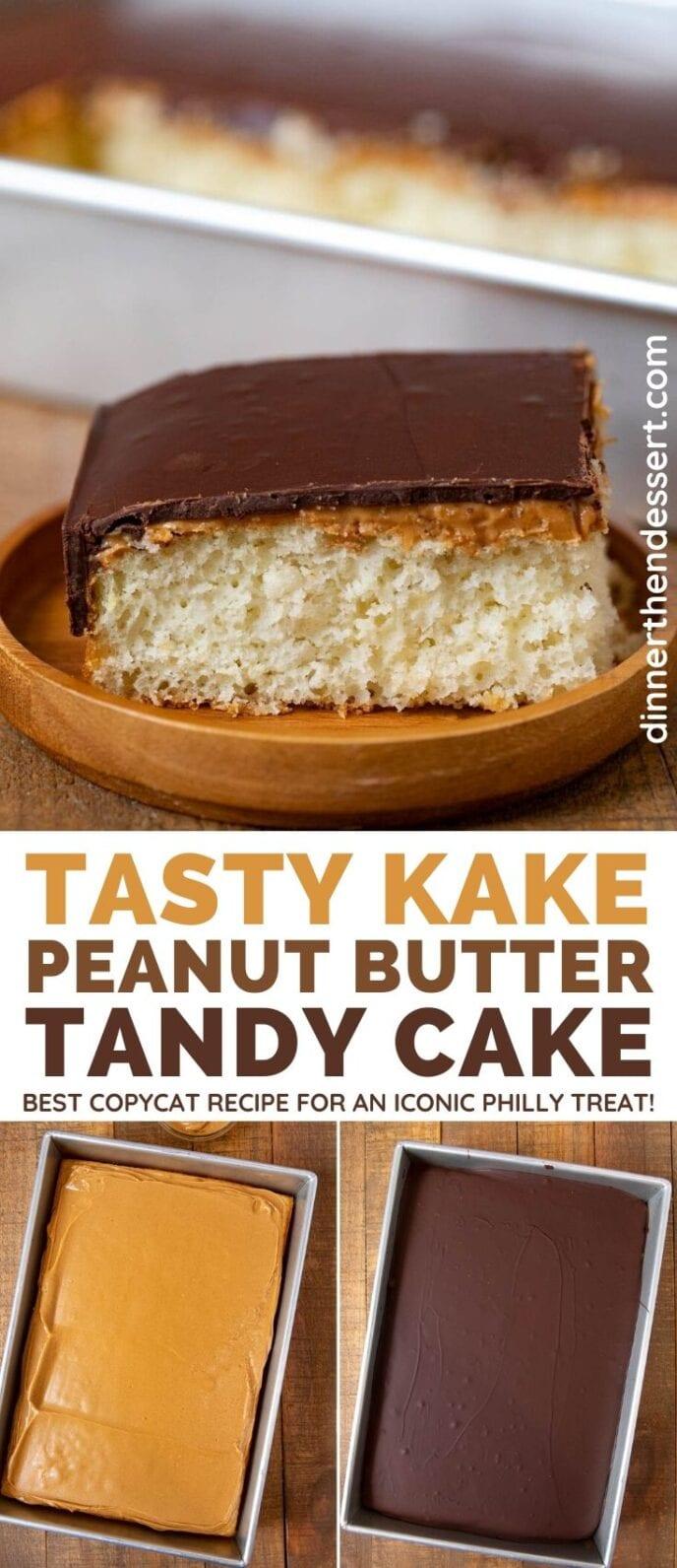 Tasty Kake Peanut Butter Tandy Cake collage