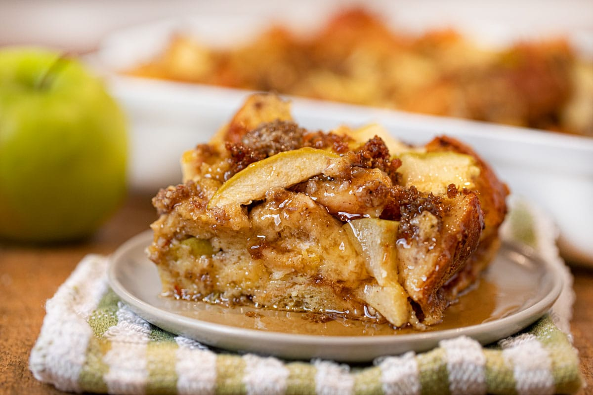 Sausage and Apple Breakfast Bake on plate