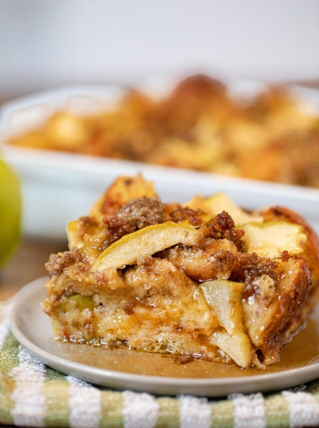 Sausage and Apple Breakfast Bake on small plate