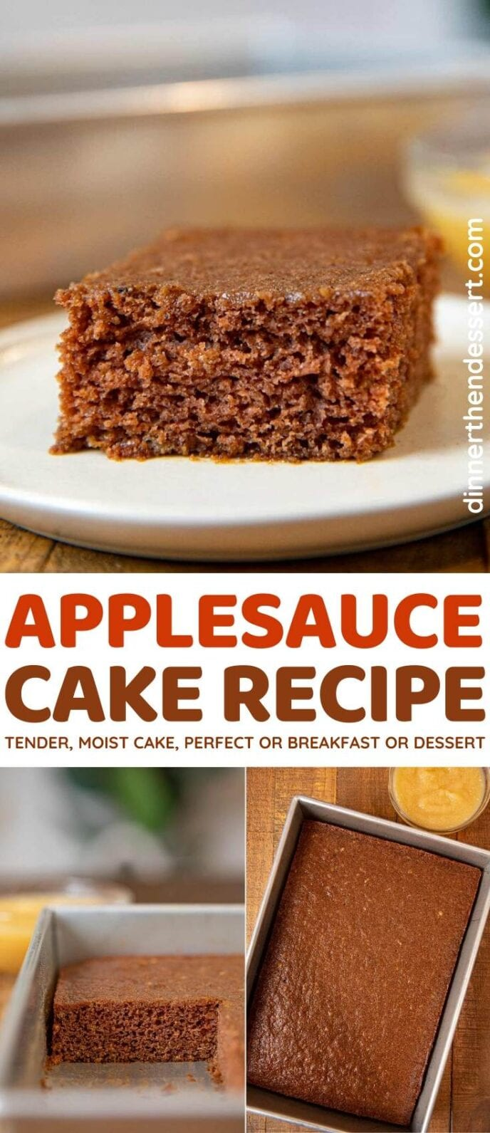 Applesauce Cake collage