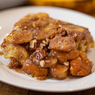 up close Bananas Foster French Toast Bake