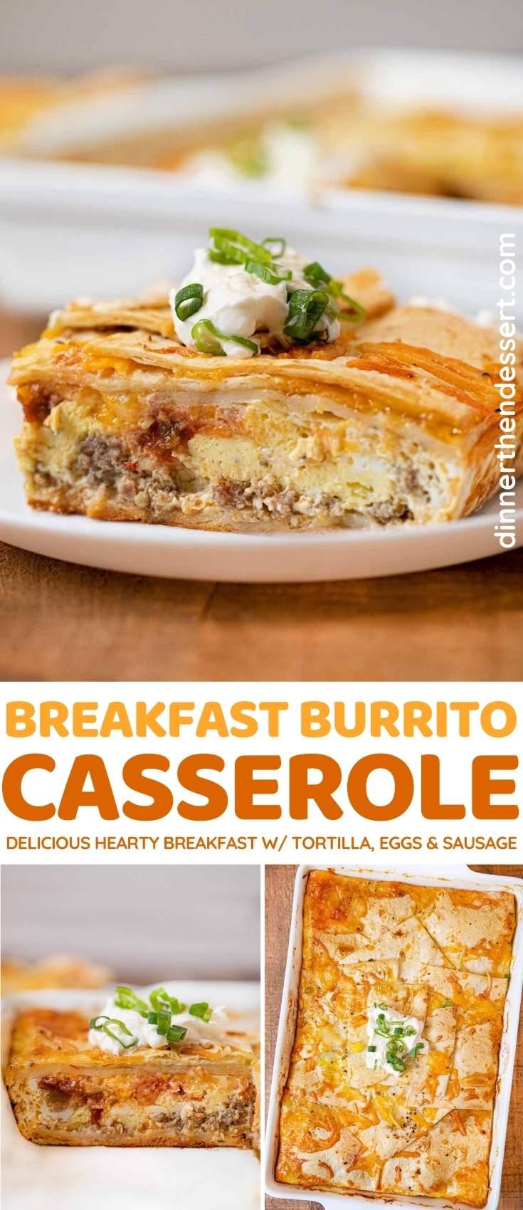 Breakfast Burrito Casserole collage
