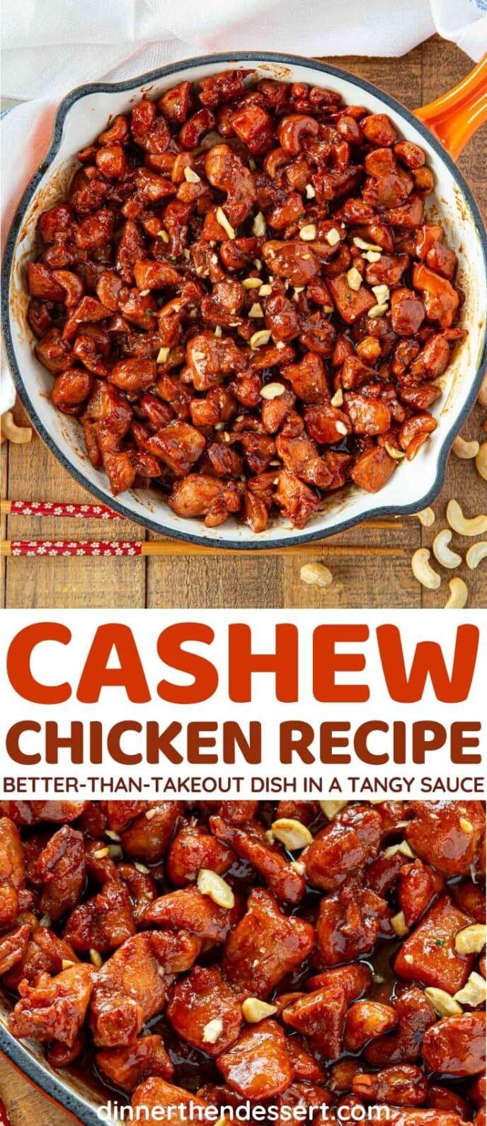 Cashew Chicken collage