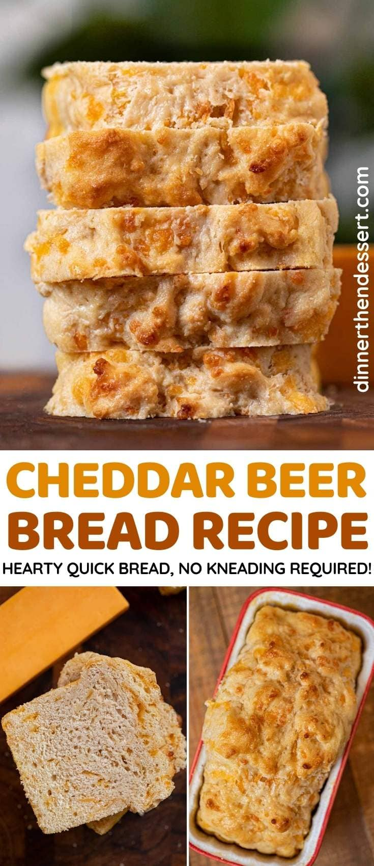 Cheddar Beer Bread collage