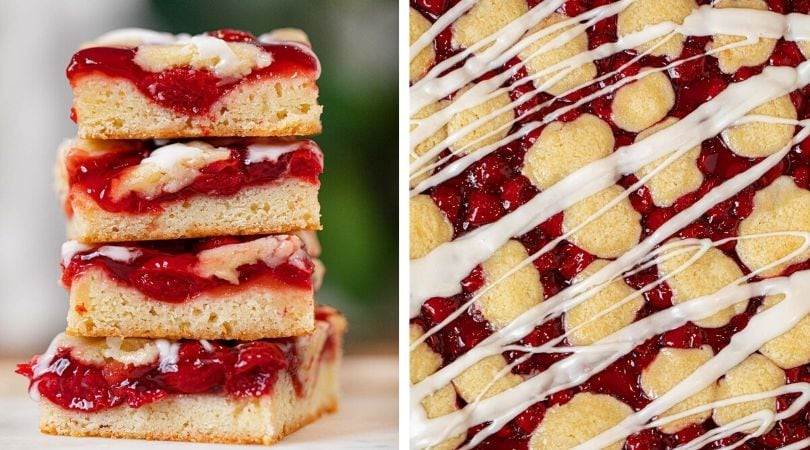 Photo of Easy Cherry Bars Recipe (Great for a Crowd!) – Dinner, then Dessert