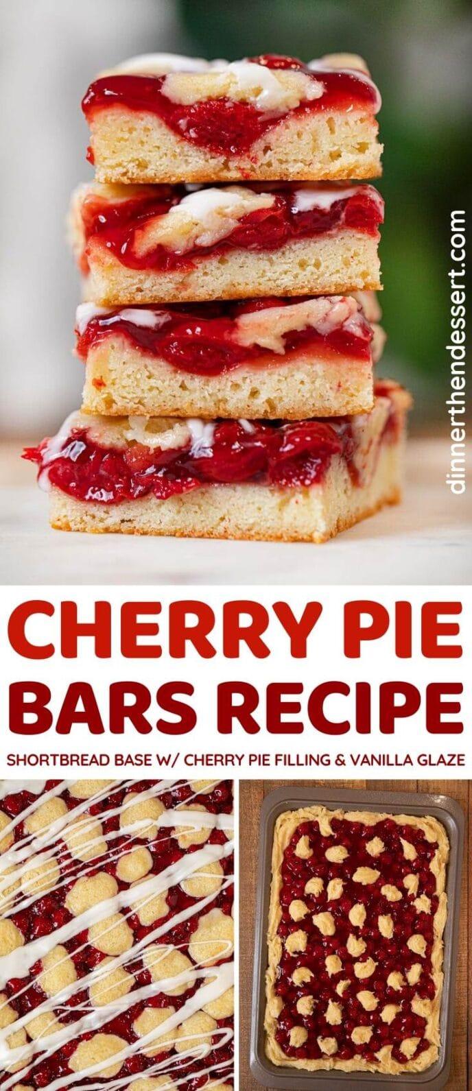 Cherry Pie Bars collage