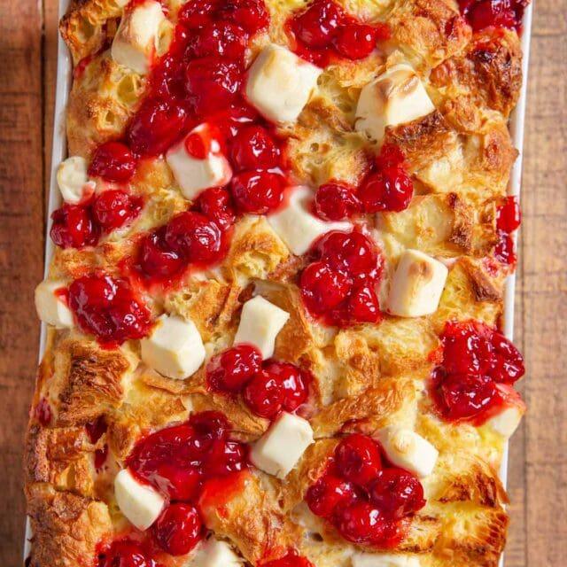 Cherry Danish Breakfast Bake top down