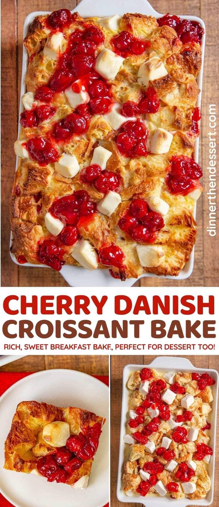 Cherry Danish Croissant Bake collage