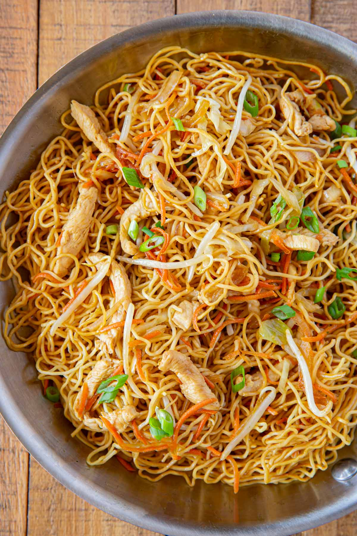 Chicken Chow Mein in large bowl