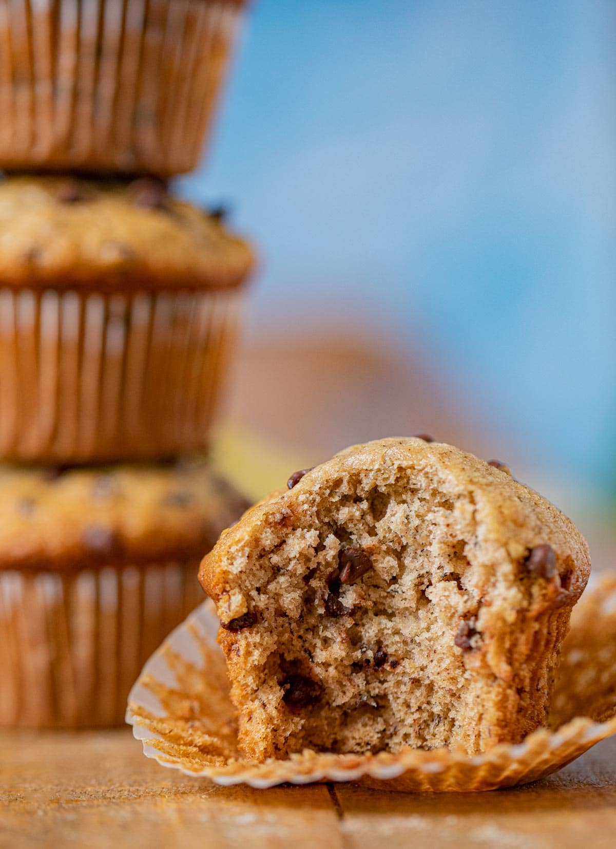 The Easiest Banana Chocolate Chip Muffins Recipe Dinner Then Dessert