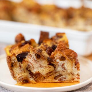 Slice of Cinnamon Raisin Breakfast Bake