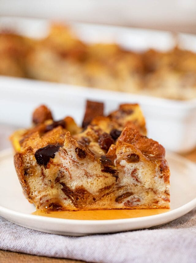 Slice of Cinnamon Raisin Breakfast Bake