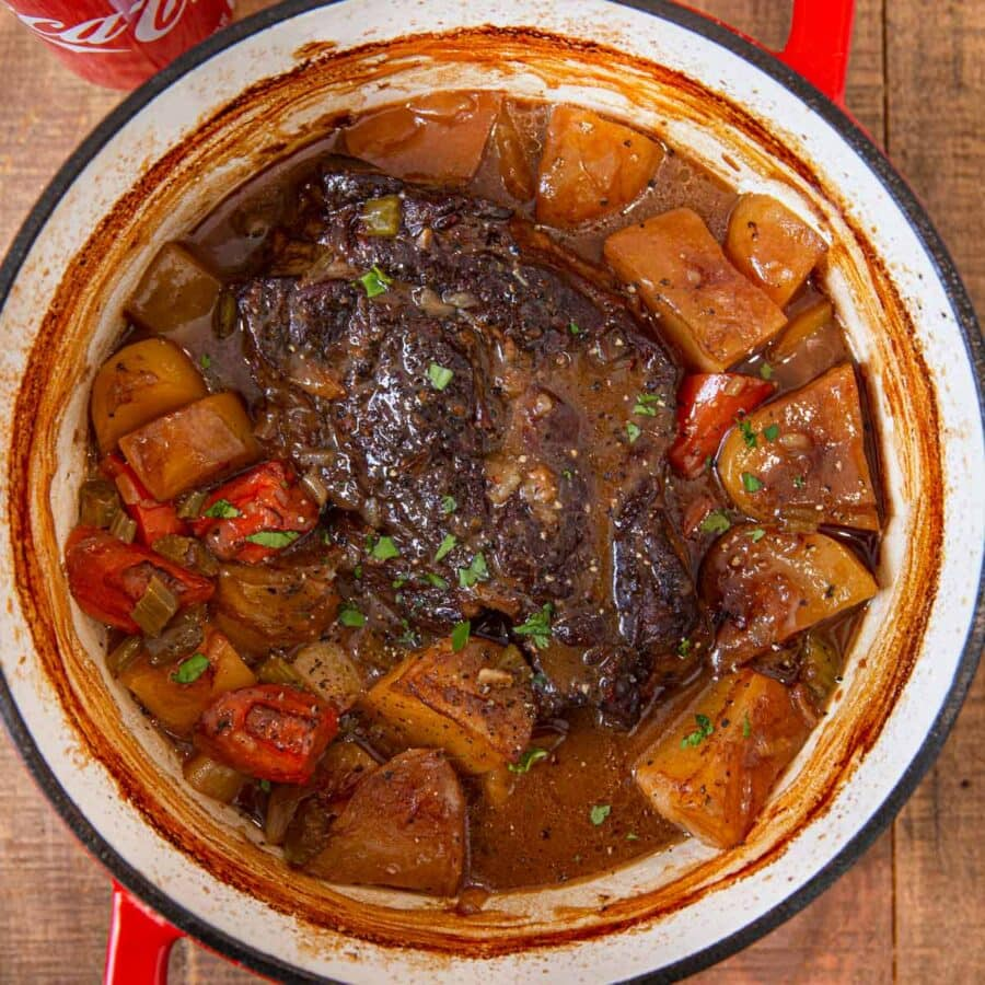 Coca Cola Pot Roast in pot