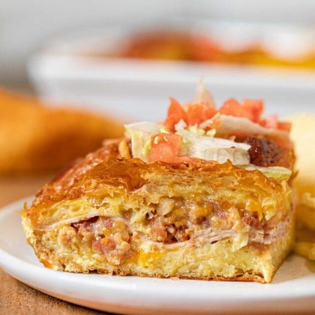 Slice of Club Sandwich Bake