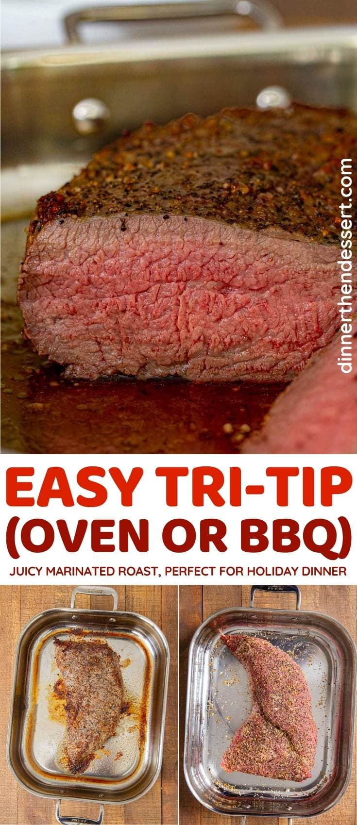 Easy Tri-Tip collage
