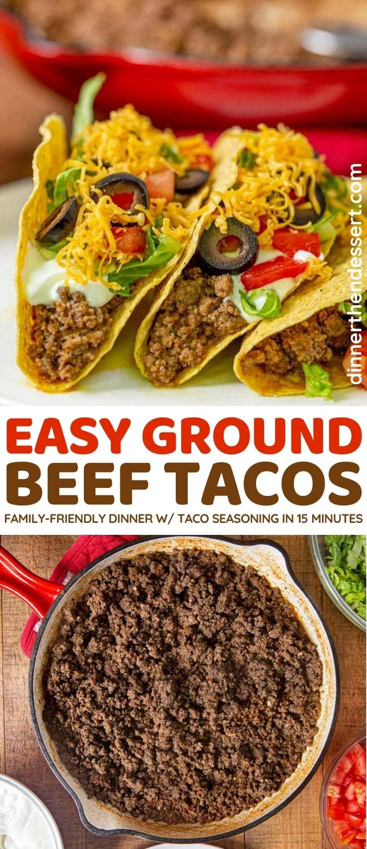 Ground Beef Tacos collage