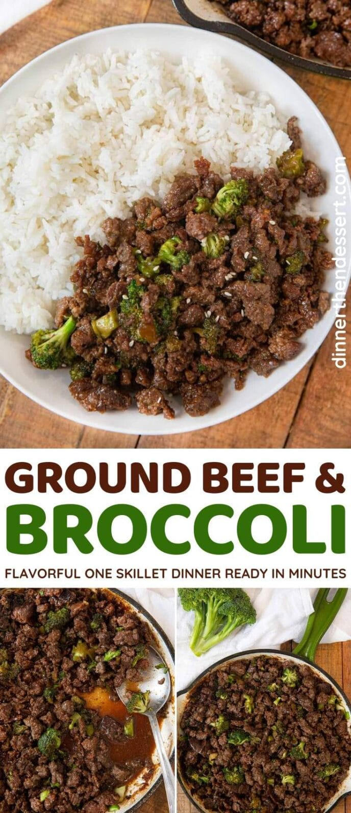 Ground Beef and Broccoli collage