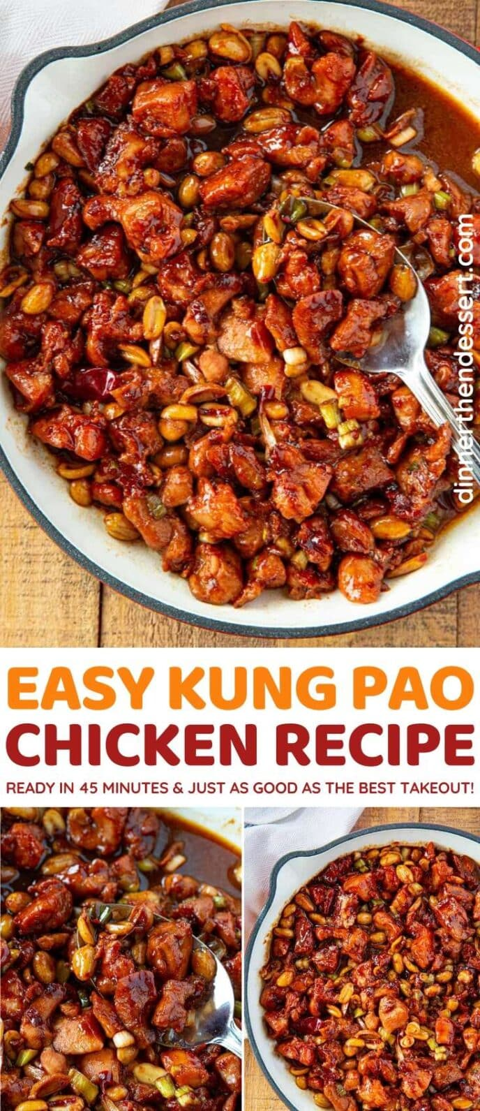 Kung Pao Chicken collage