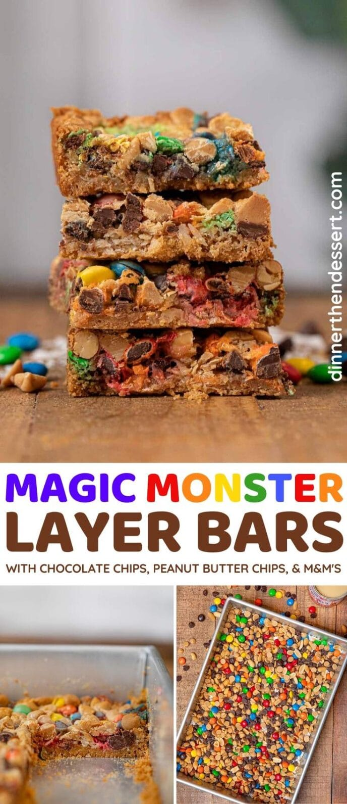 Magic Monster Layer Bars collage