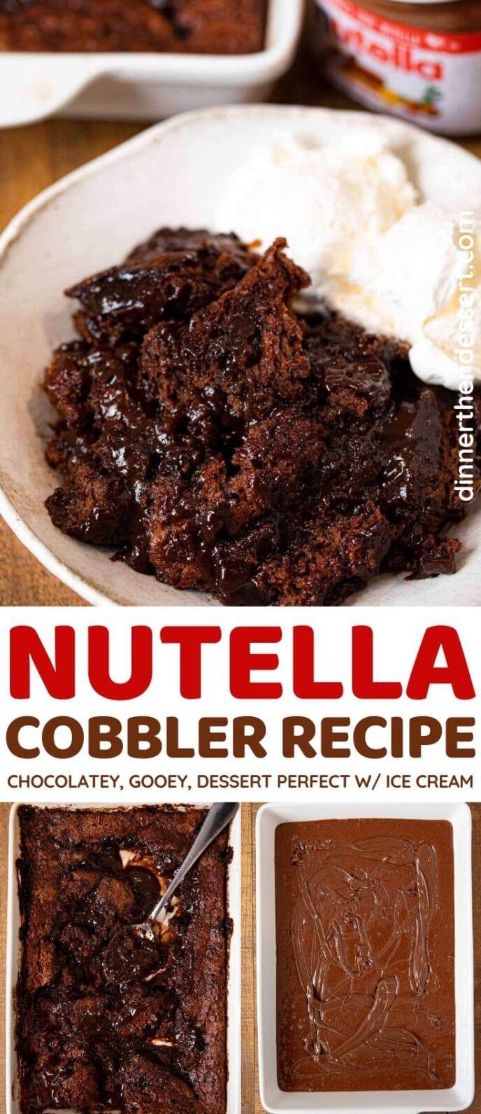 Nutella Cobbler collage