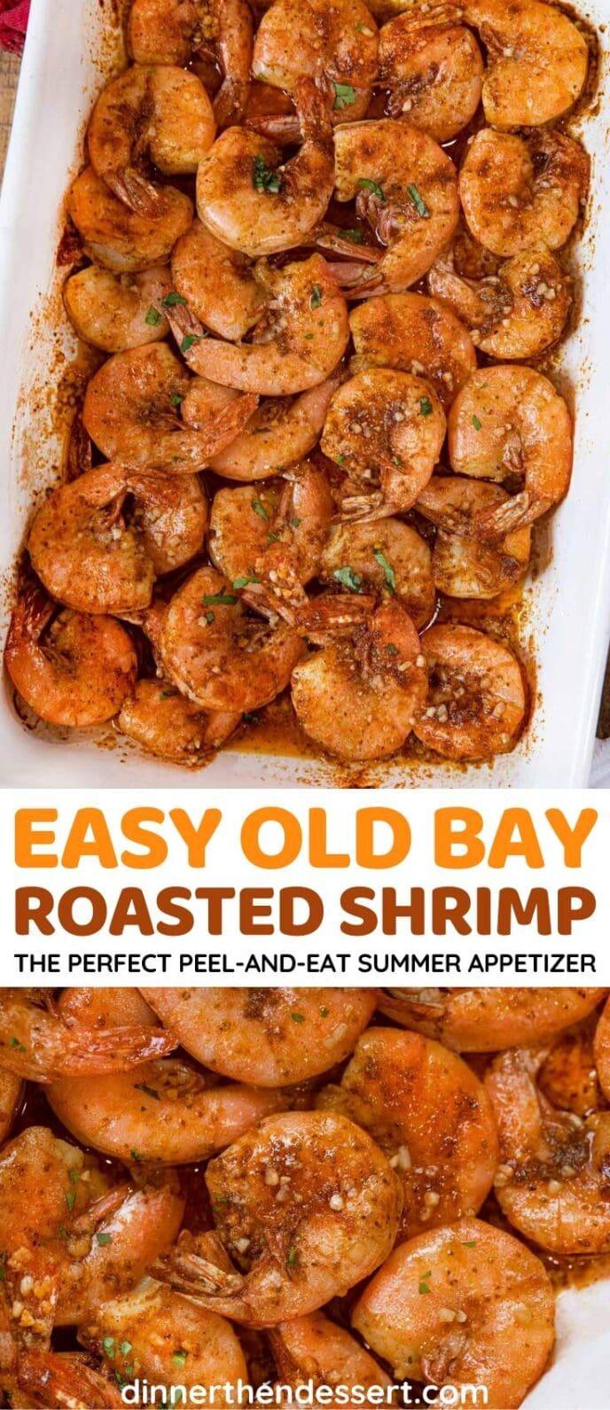 Old Bay Roasted Shrimp collage