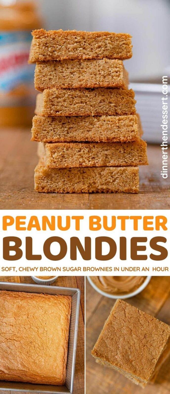 Peanut Butter Blondies collage