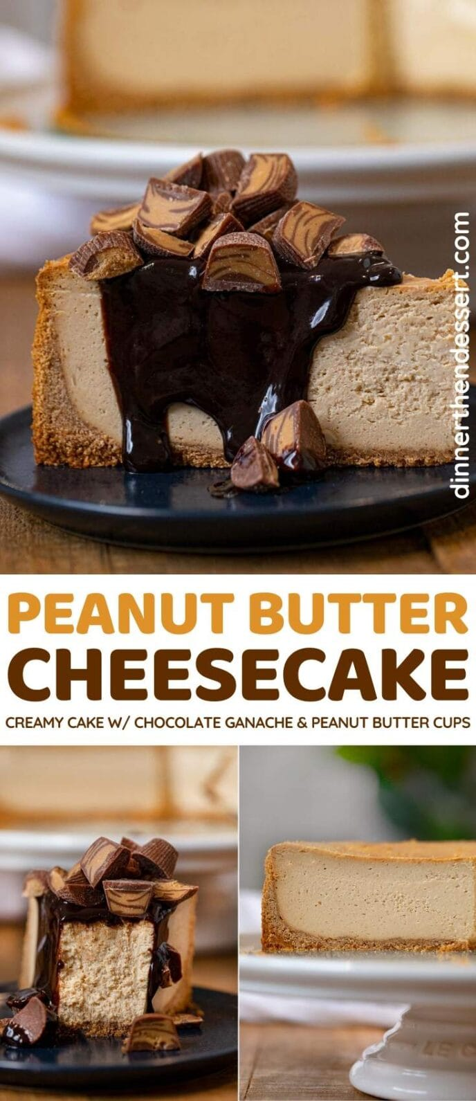 Peanut Butter Cheesecake collage