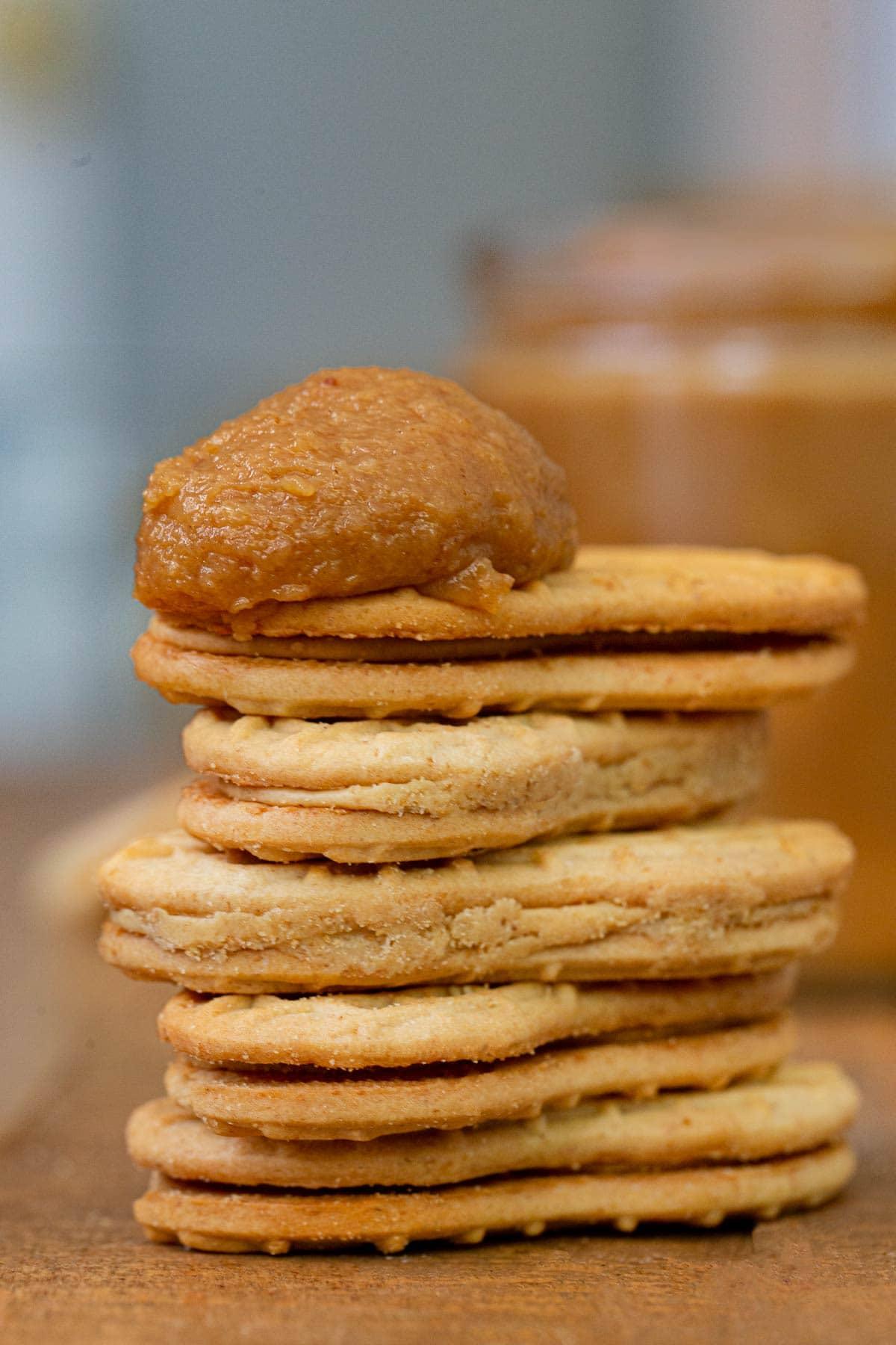 Peanut Butter Cookie Butter on Nutter Butters