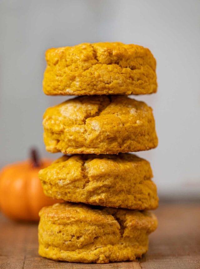 Pumpkin Biscuits in a stack