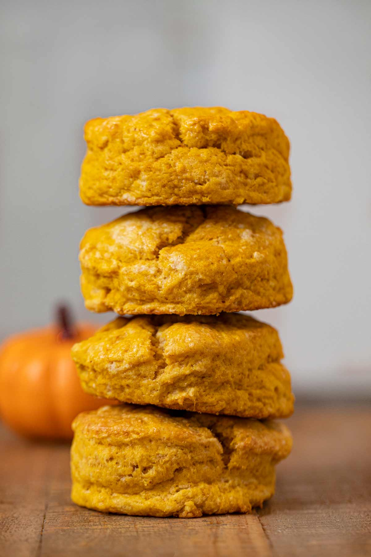 Pumpkin Biscuits in a stack