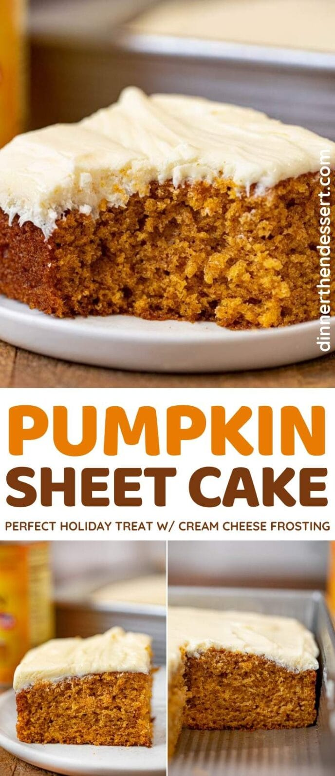 Pumpkin Sheet Cake collage