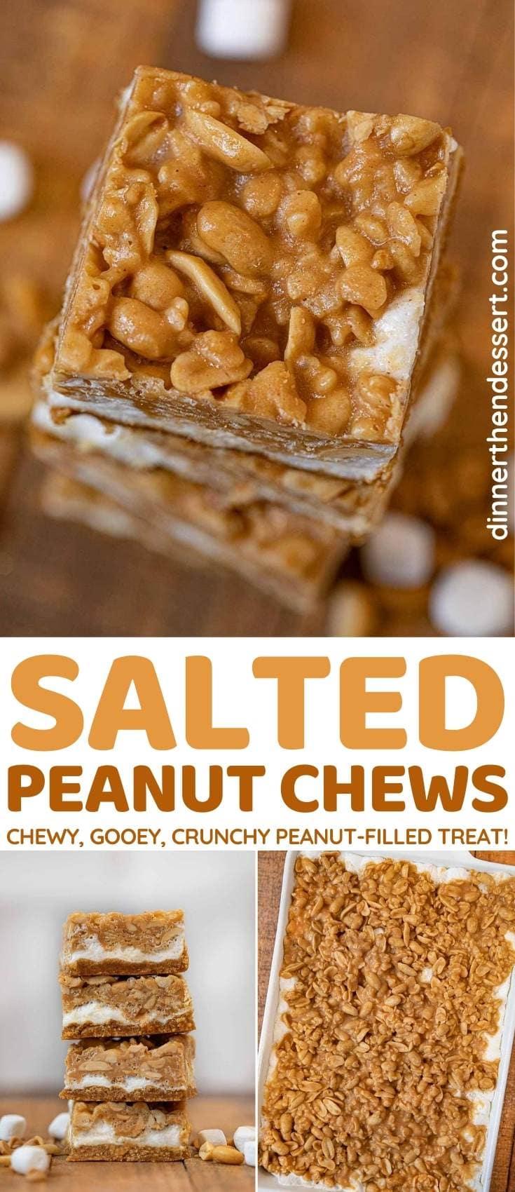 Salted Peanut Chews collage