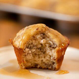 Sausage Pancake Muffin on plate