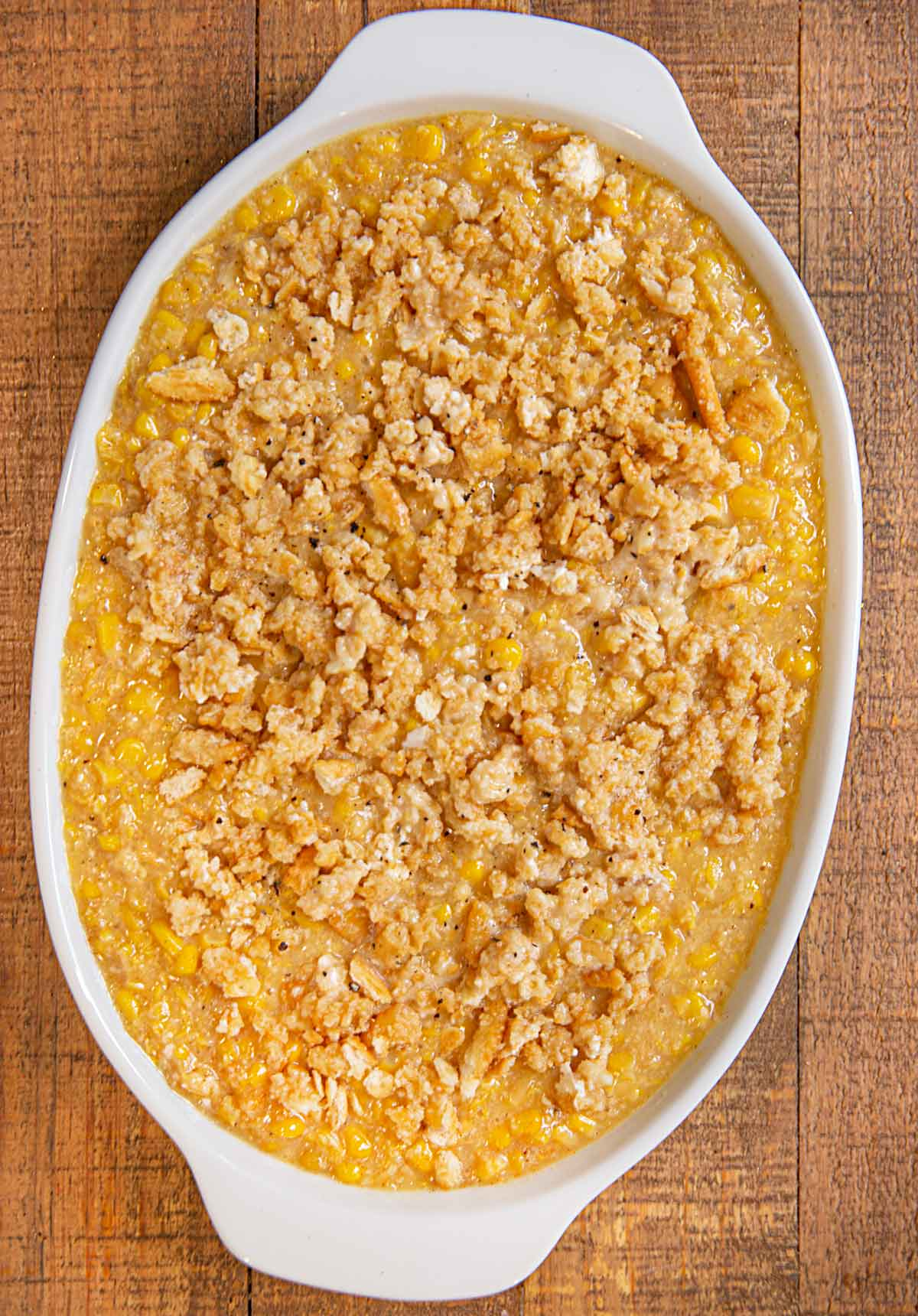 Scalloped Corn before baking