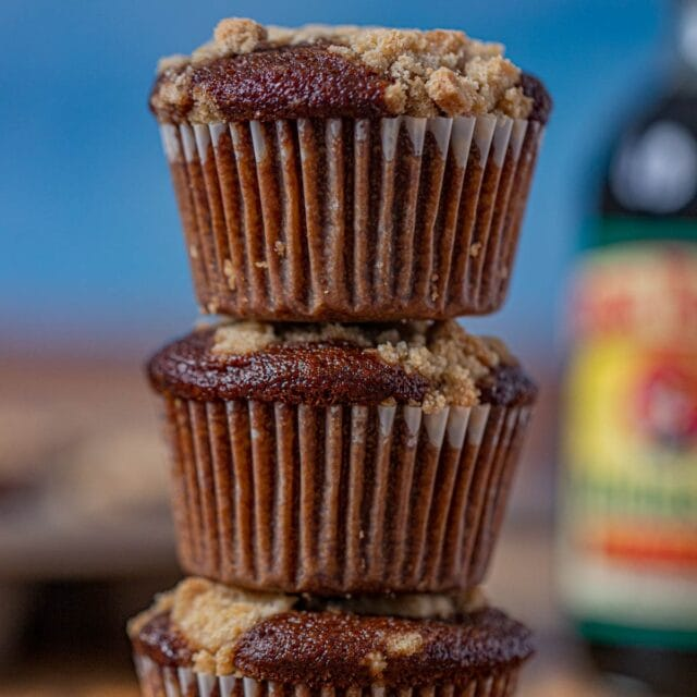 Shoofly Muffins in stack