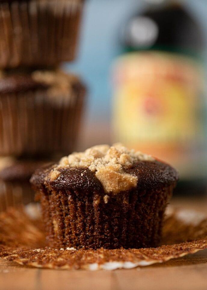 Shoofly Muffin on cutting board
