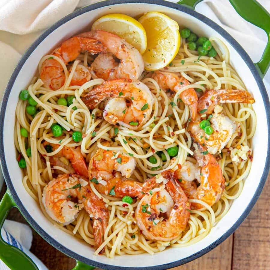 square cropped photo of Shrimp Scampi Pasta