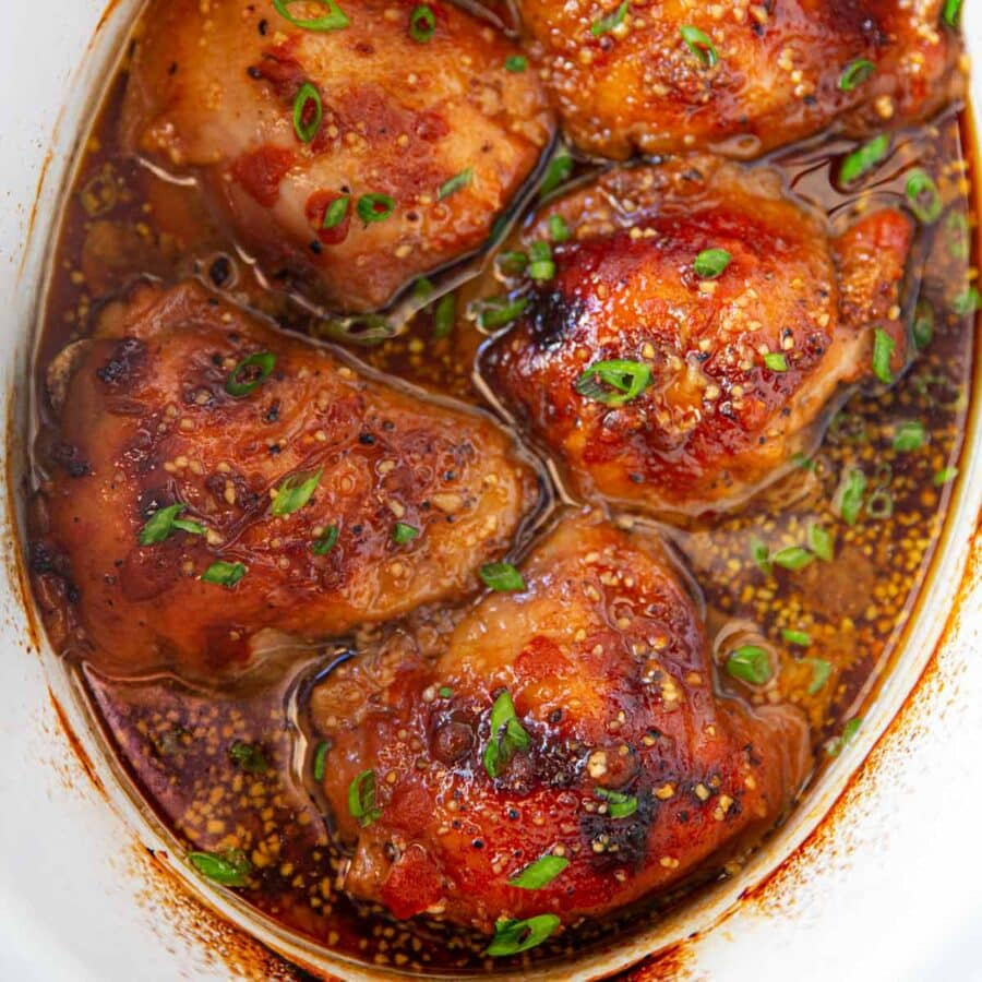 Slow Cooker Brown Sugar Sriracha Chicken up close