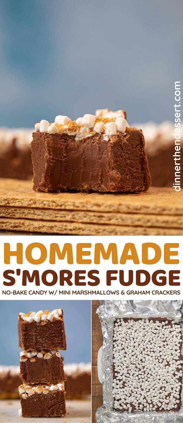 S'mores Fudge collage