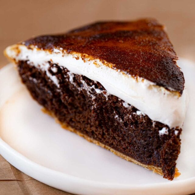 cropped photo of Slice of S'mores Pie