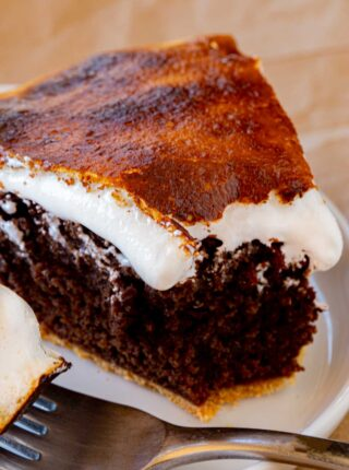 Slice of S'mores Pie on plate